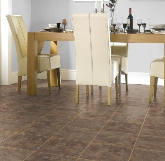 Karndean knight tile vinyl flooring in andecite t89 for Vinyl flooring companies